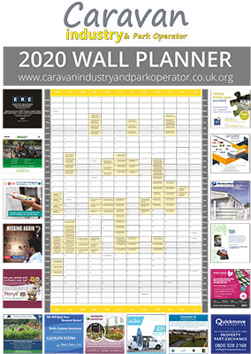 Caravan Industry and Park Operator Wallplanner 2020
