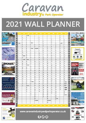 Caravan Industry and Park operator wall planner 2021