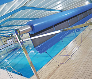 Plastica Pools reel system for Commercial Swimming Pools