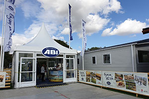 API stand at the caravan show - Caravan show moves from Hull to Harrogate