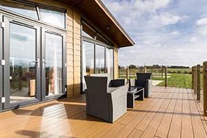 outdoor areas - a decking area by NeoTimber at Bowbrook Lodge