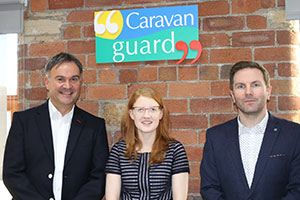 Holly Lynch MP with the team at Caravan Guard, discussing motorhome road tax