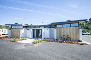 amenities block at Cornish holiday park