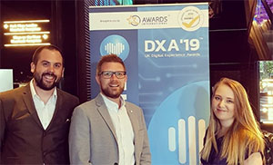 Receptional staff at the UK Digital Experience Awards 2019