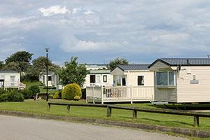 holiday park in the winter, insurance risks