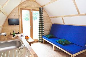 Wigwam® Holidays pod interior - Working in Tandem with Cycling Business