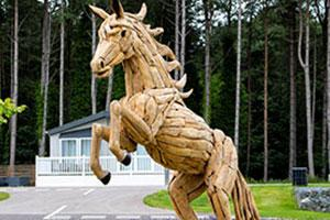 BBC award winning horse sculpture at Lincolnshire Parks