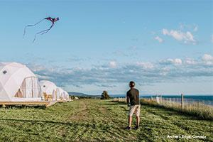 F Domes man flying kite