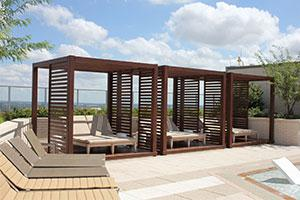 outdoor areas - a pergola offering shade from Endurawood